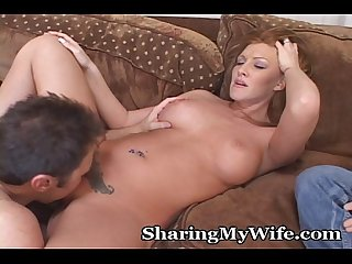 Redhead Wife gets banged by another