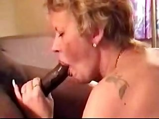Mature gets her fill of black cock
