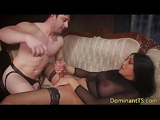 Busty Bdsm Ts doggystyles restrained sub