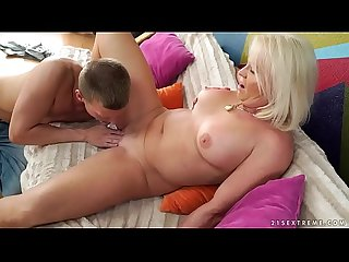 Big assed granny anett riding her lover S cock