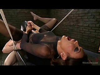 Shemale domme fucks masked slave excl