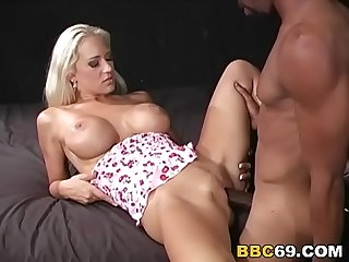 Busty cougar trina michaels takes black dick