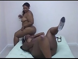 Black fat girls fucking with a strap on!
