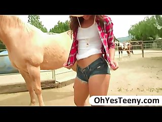 Gabriella releases a Cowboys huge dick and she gets fucked hard