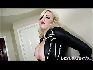 Busty and blonde vyxen Steel gets her two holes Destroyed by lex