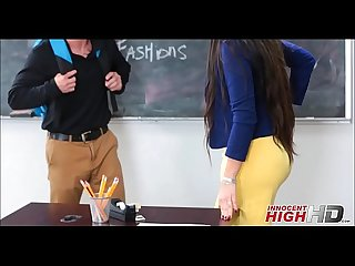 Hot Teacher Fucks Nerdy Male Student
