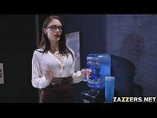Anna de ville gave her boss a nice sucking