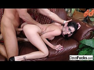 Chad white cums on dava S glasses