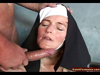 Dutch nun fucks homeless man
