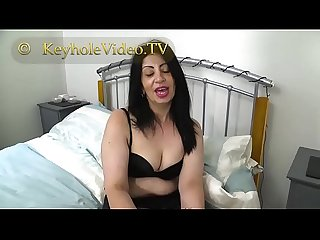 Milf CandyLips on Black Lingerie Masterbating herself on Bed