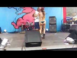 Chilena bailando caliente