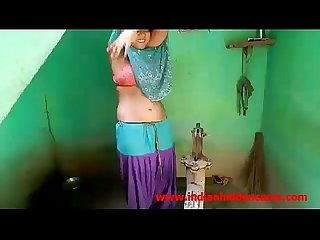 Newly married indian wife outdoor shower indianhiddencams com