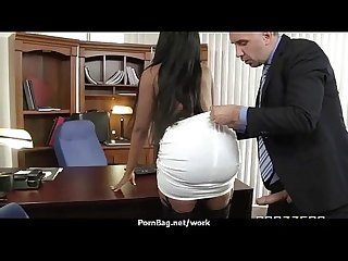 Big tit latina boss fucks employee S hard dick in office 14