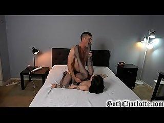 Goth charlotte sartre pantyhose sex with boyfriend lance hart