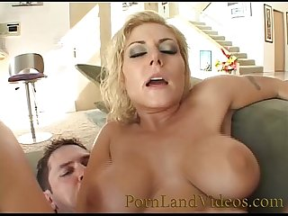big tits beautiful bitch sucking balls
