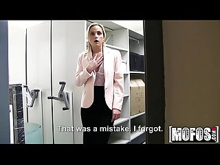 Czech Blonde Fucks in Office video starring Cristal Caitlin - Mofos.com