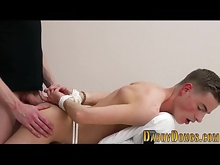 Tied twink stepson fucked