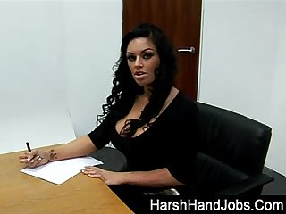 Kerry louise giving a harsh handjob