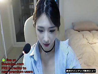 Korean bj teases in tan pantyhose live at livekojas com