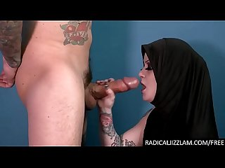 Arab goth refugee chick facefucked by Caliph