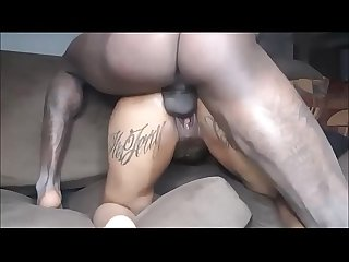Fat black squirter homemade