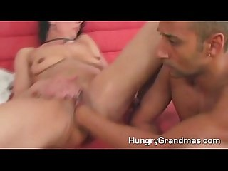 A hot mama gets hard young cock