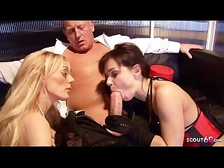Big White Cock Old Guy No Condom Fuck Two Hot Teen Hooker