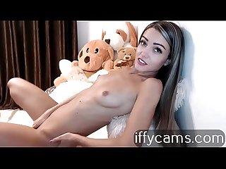 Catalina excited masturbates to orgasm