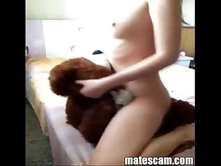 Teen girl masturbating with a teddy bear matescam period com