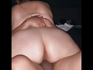 She rides my cock with her thick ass while I fill her with cum.