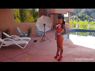 Fun bts with christy mack and london keyes