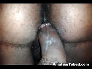 Hairy black creampie