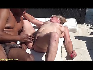 hairy 72 years old granny first time b. interracial banged