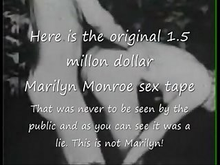 Marilyn monroe original 1 period 5 million dollar sex tape quest