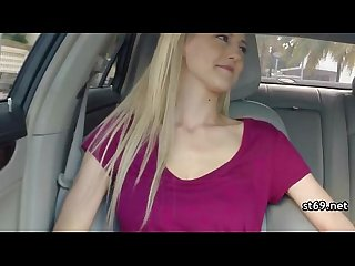 Teen amateur girls sex in the car scene