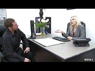 Ashley fires fucked at the office