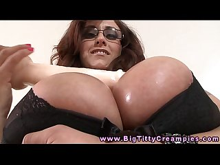 Tittyfucking busty milf loves hard cock