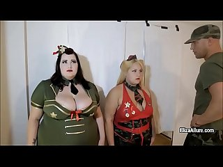 Rugged colonel fucks eliza allure and her big girlfriend