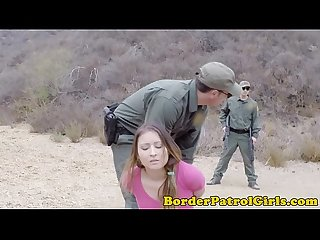 Illegal immigrant takes cumshot