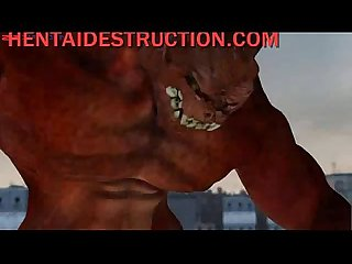 Gigantic creature fucks 3d hottie in the street hentaidestruction com