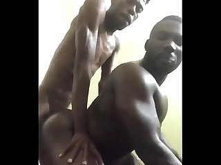 Horny Gay Bottom takes Big Skinny Black Dick Doggystyle. Smoking Fucking