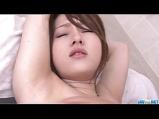 Ria sakurai is close to A massive threesome porn show