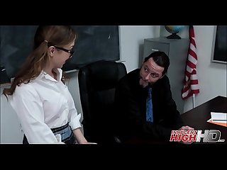 Nerdy high school teen fucked by teacher