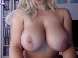 Blonde girl with perfect tits