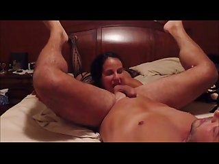 Hot guy gets rimmed by his girlfriend
