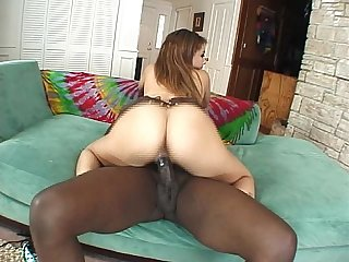 Huge black cock in her pussy