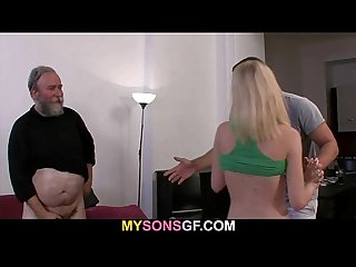 Father punishes his son's girl