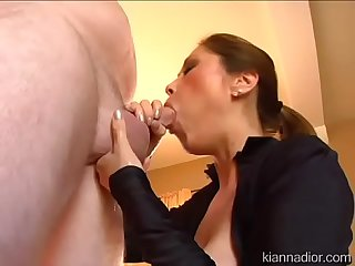 Big Titted MILF Kianna Dior Gives Hot Smoking Blowjob