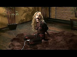 Angela sommers solo in red catsuit