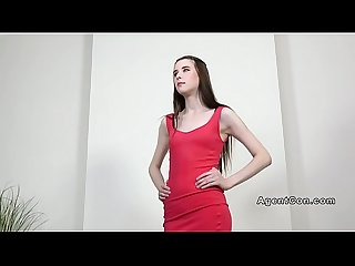 Skinny beauty banged at agents office